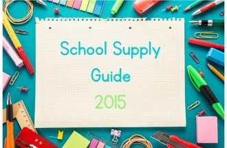 School Supply Guide
