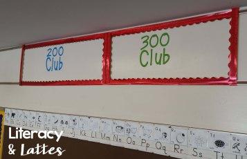 Classroom Bulletin Board 200 and 300 Club