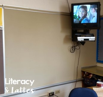 Classroom bulletin board before