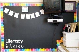 Classroom Bulletin Board Black and Rainbow