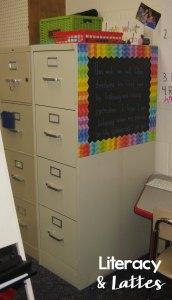 Classroom filing cabinet