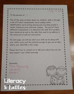 Literacy Asessments for Parents