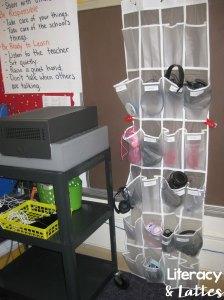 Student headphone storage