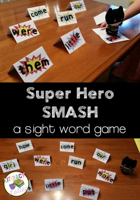 Super Hero Smash: A Sight Word Game