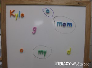 magnetic letters vs words