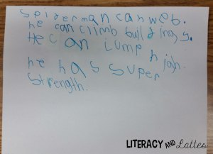 student spider man writing