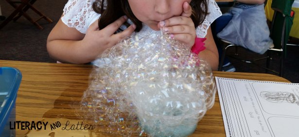 blowing huge bubbles