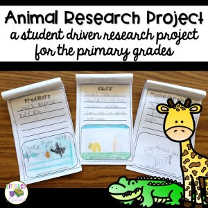 Animal Research Project for the primary classroom
