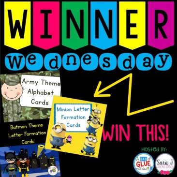 Winner Wednesday alphabet cards