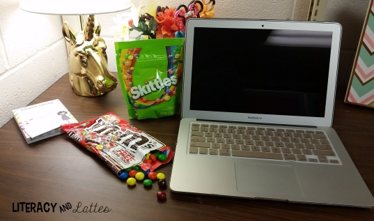 candy on desk
