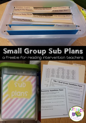 small-group-intervnetion-sub-plans-a-freebie
